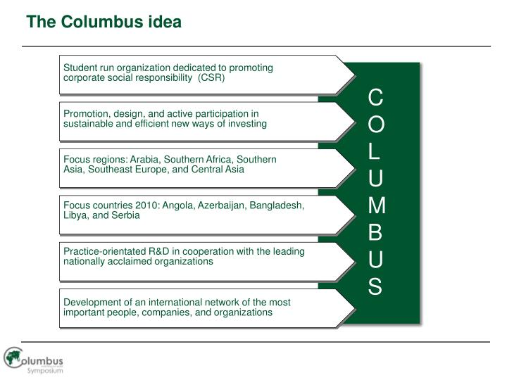 The Columbus idea