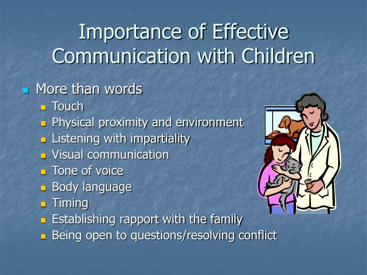 Importance of effective communication with children
