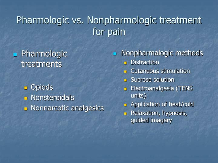 Pharmologic treatments