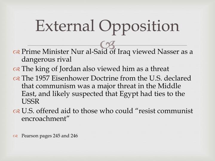 External Opposition