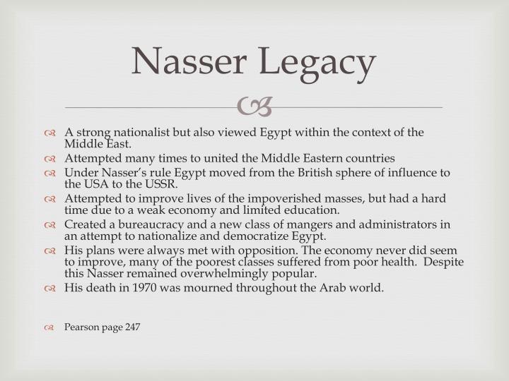 Nasser Legacy