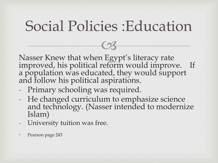 Social Policies :Education