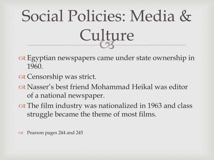 Social Policies: Media & Culture