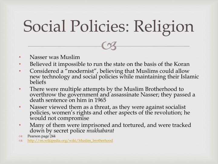Social Policies: Religion