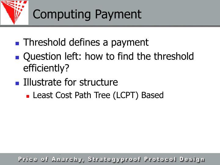 Computing Payment