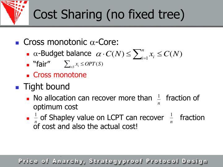 Cost Sharing (no fixed tree)