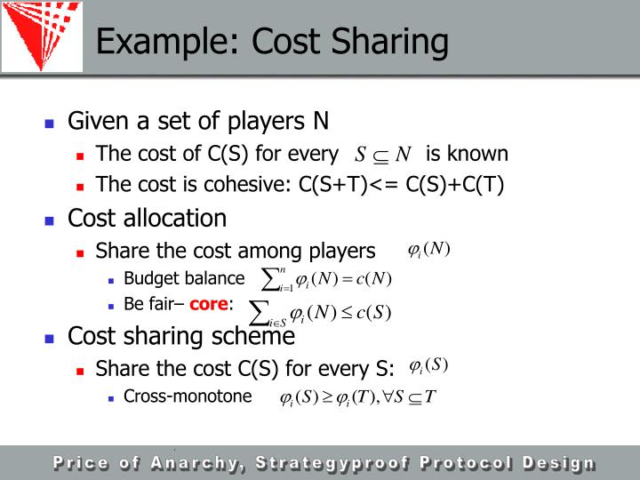 Example: Cost Sharing