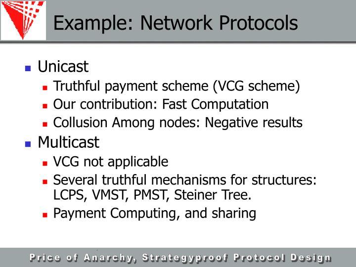 Example: Network Protocols