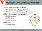 multicast cost sharing fixed tree