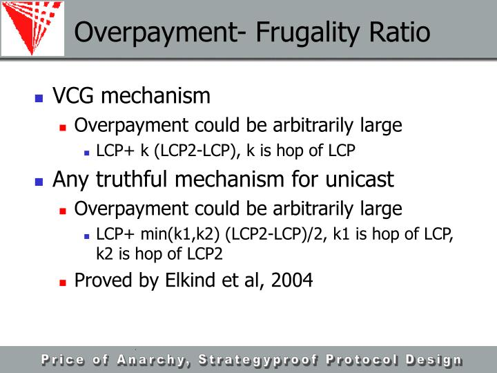 Overpayment- Frugality Ratio