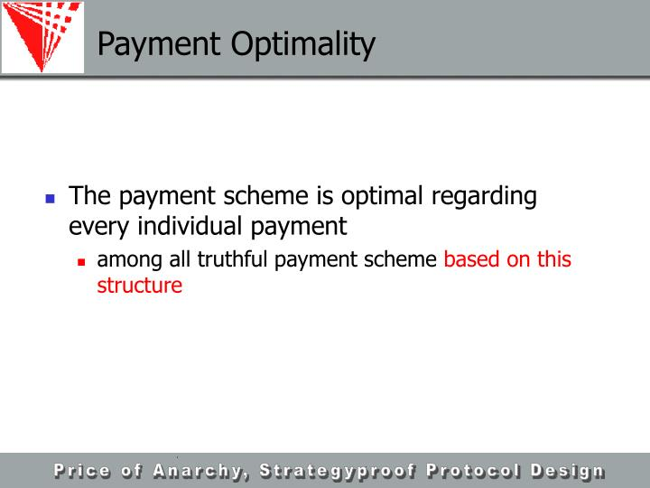 Payment Optimality