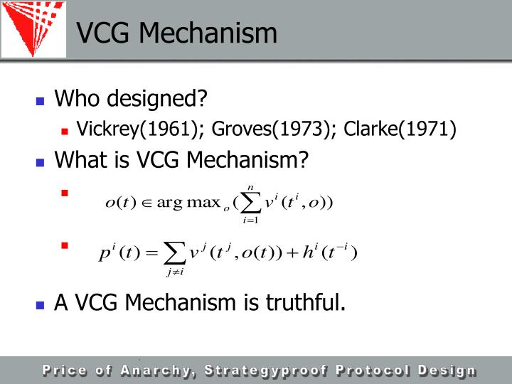 VCG Mechanism