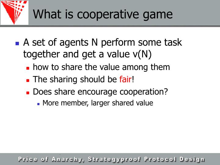What is cooperative game