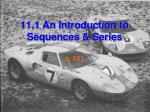 11 1 an introduction to sequences series