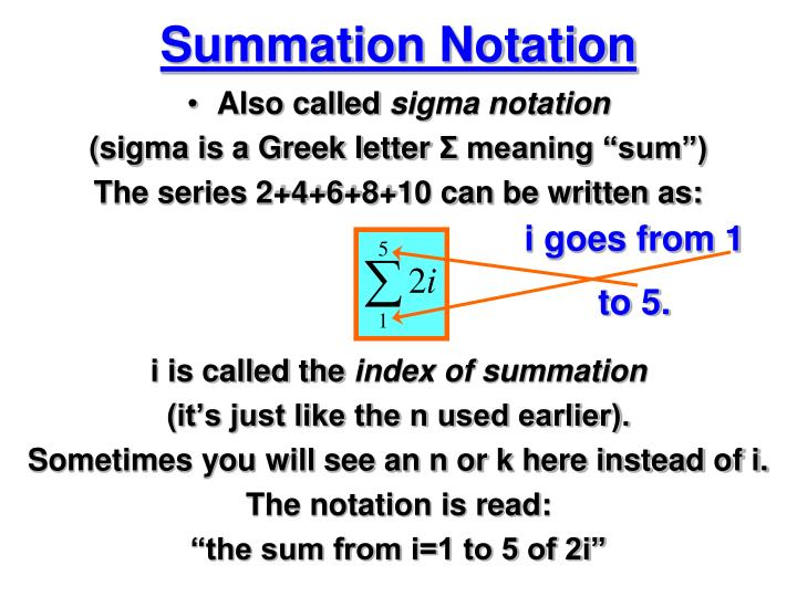 Summation Notation