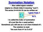summation notation