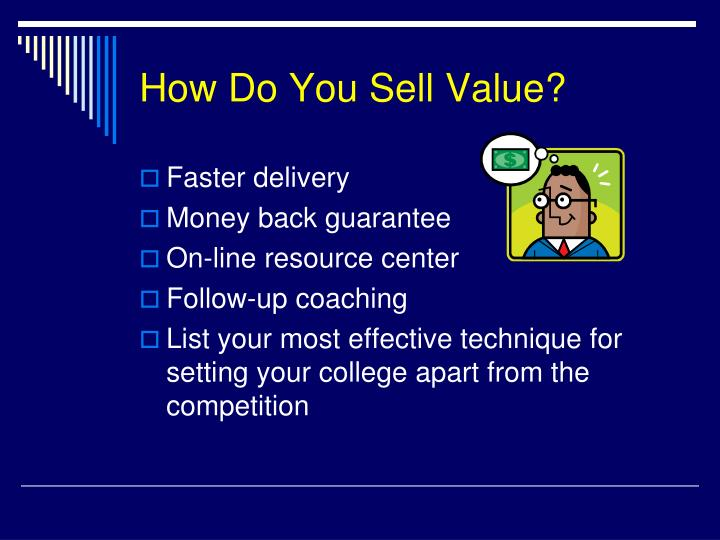 How Do You Sell Value?