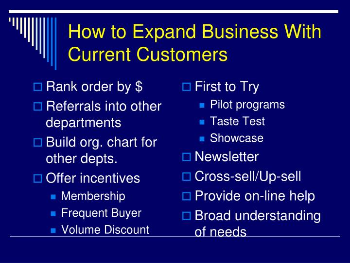 How to Expand Business With Current Customers