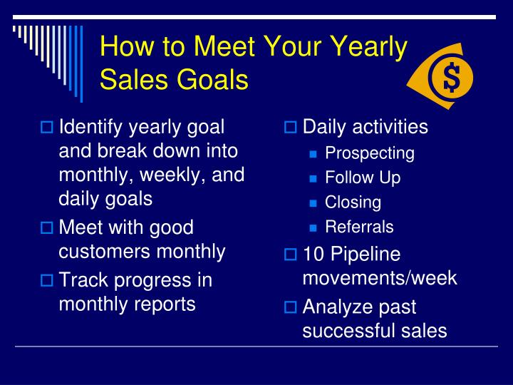 How to Meet Your Yearly Sales Goals