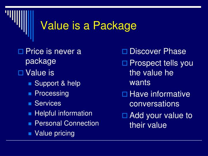 Value is a Package