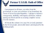 former u s s r oath of office1