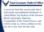 nazi germany oath of office