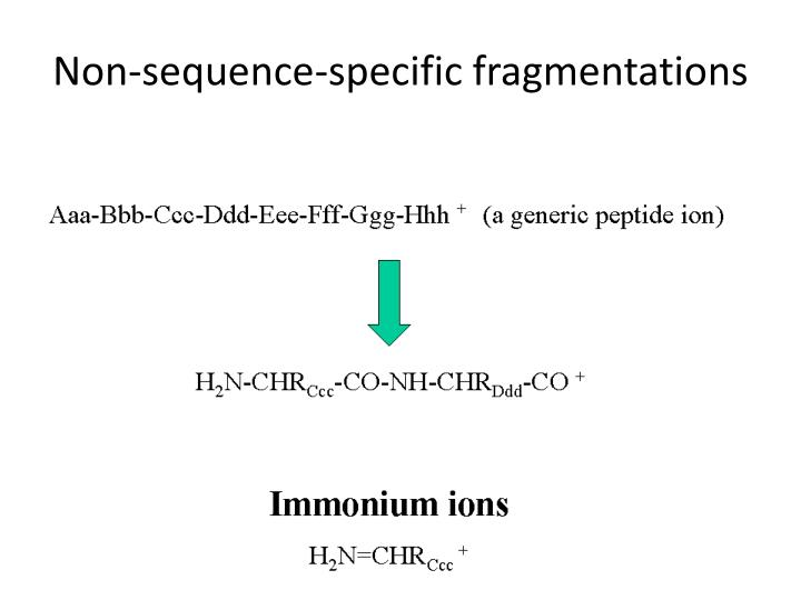 Non-sequence-specific fragmentations