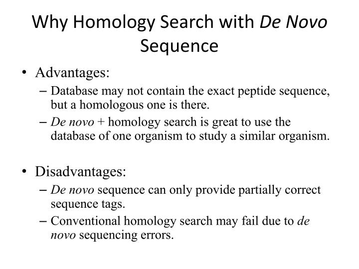 Why Homology Search with