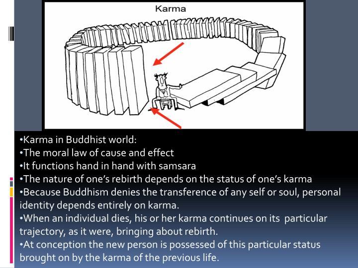 Karma in Buddhist world:
