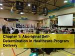 chapter 1 aboriginal self determination in healthcare program delivery