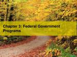 chapter 3 federal government programs