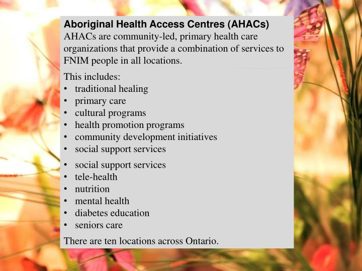 Aboriginal Health Access Centres