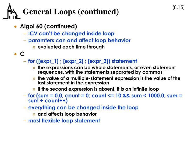 General Loops (continued)