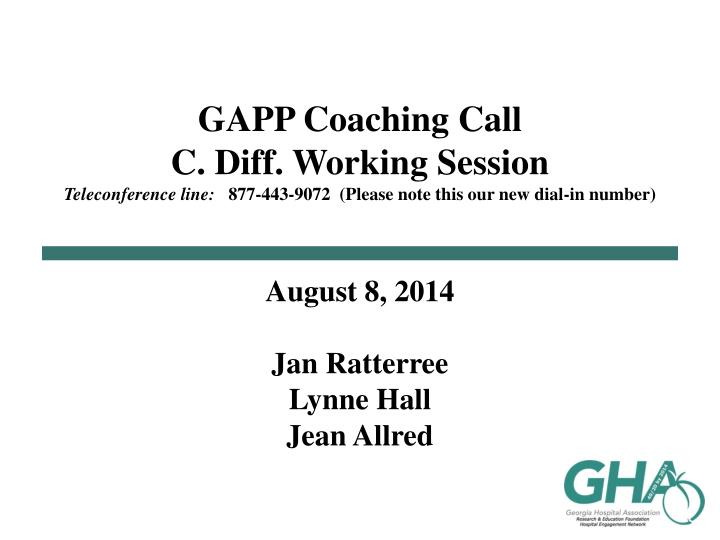 GAPP Coaching Call