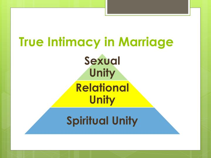 True intimacy in marriage
