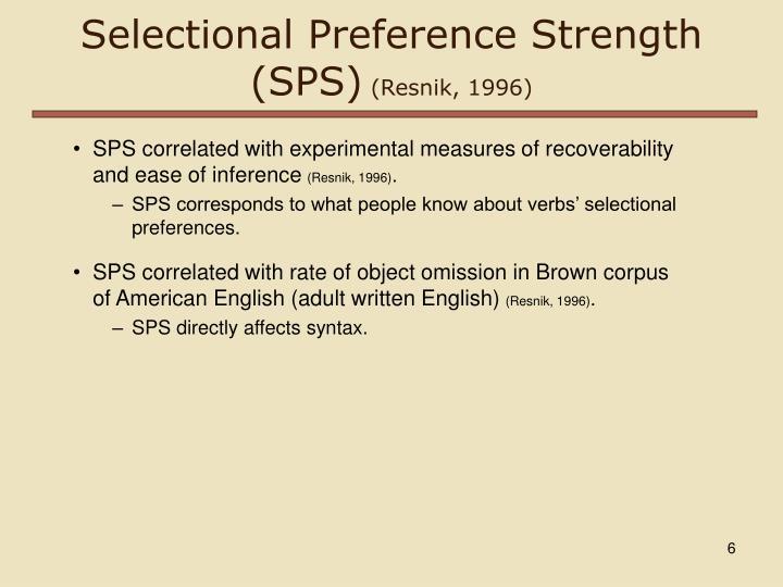 Selectional Preference Strength (SPS)