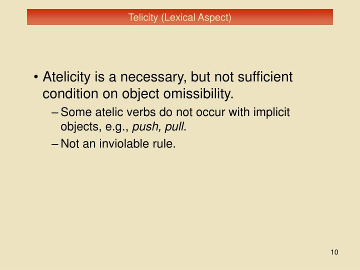 Telicity (Lexical Aspect)