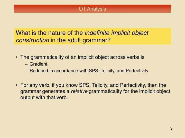 OT Analysis