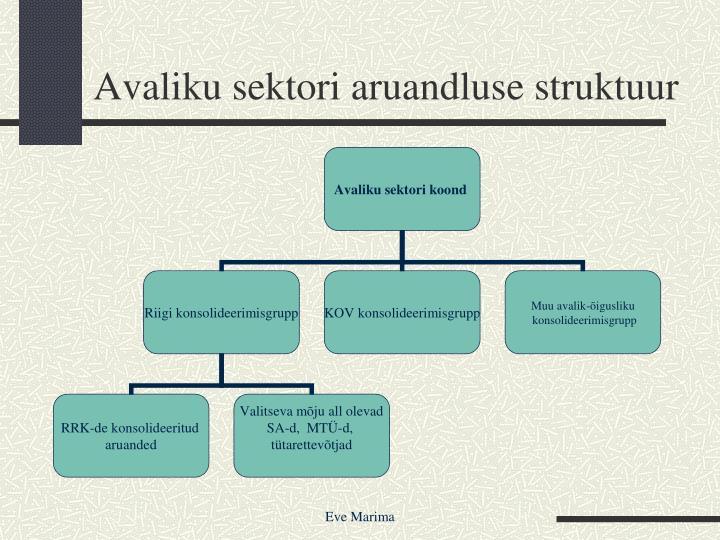 Avaliku sektori aruandluse struktuur