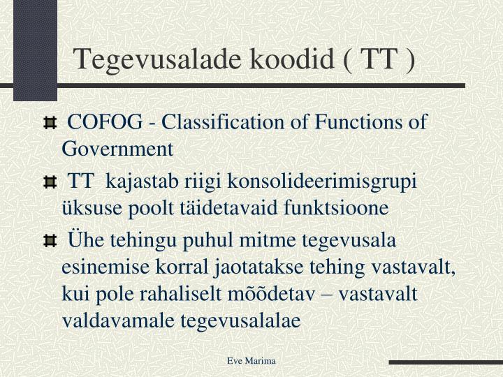 Tegevusalade koodid ( TT )