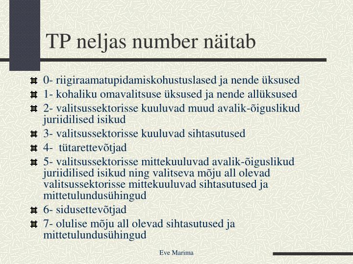 TP neljas number näitab