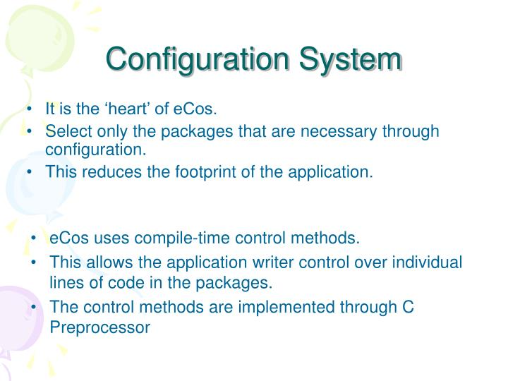 Configuration system