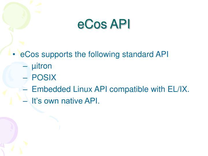 eCos API