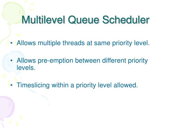 Multilevel Queue Scheduler