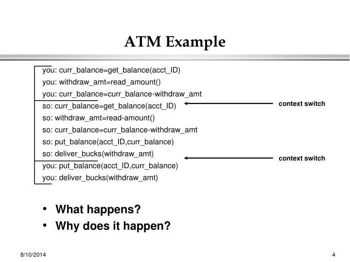 ATM Example