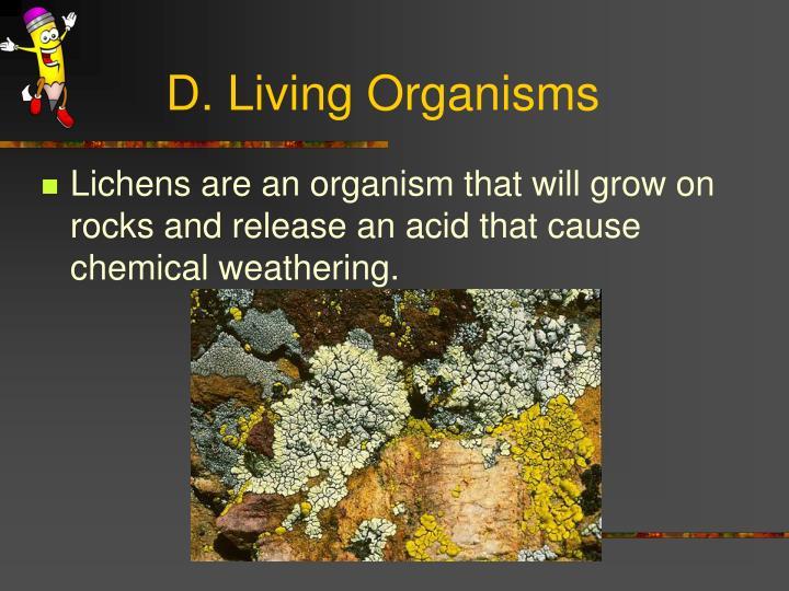 D. Living Organisms