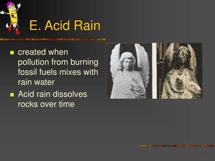 E. Acid Rain