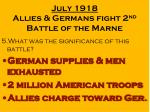 july 1918 allies germans fight 2 nd battle of the marne