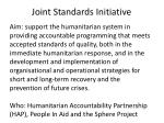 joint standards initiative