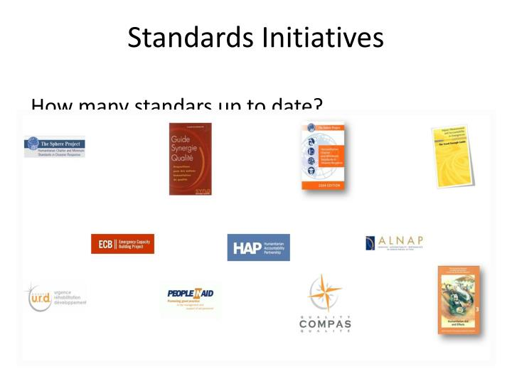Standards initiatives1